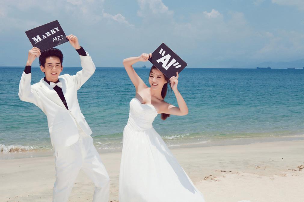 婚纱摄影作品_爱情海岸婚纱摄影作品欣赏 - 小情歌