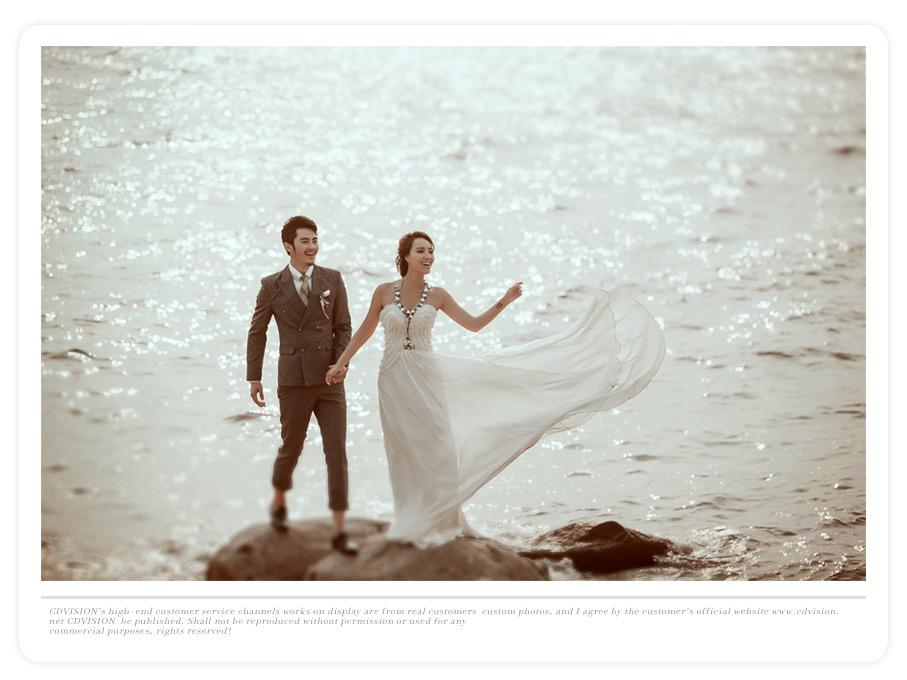 北戴河海景婚纱照图片