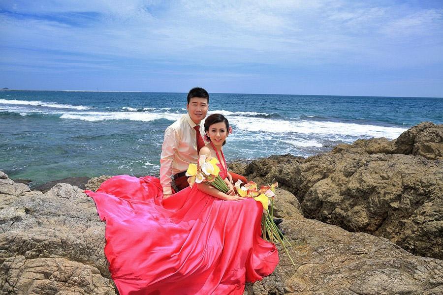 北戴河海景婚纱摄影,北戴河海景婚纱照 客片欣赏:只有